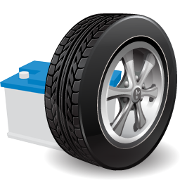 car-tyre-battery
